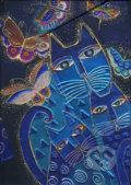 Paperblanks - Blue Cats & Butterflies - MIDI - linajkov�
