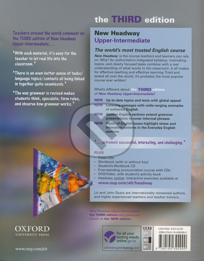 Upper-intermediate third решебник headway the edition workbook
