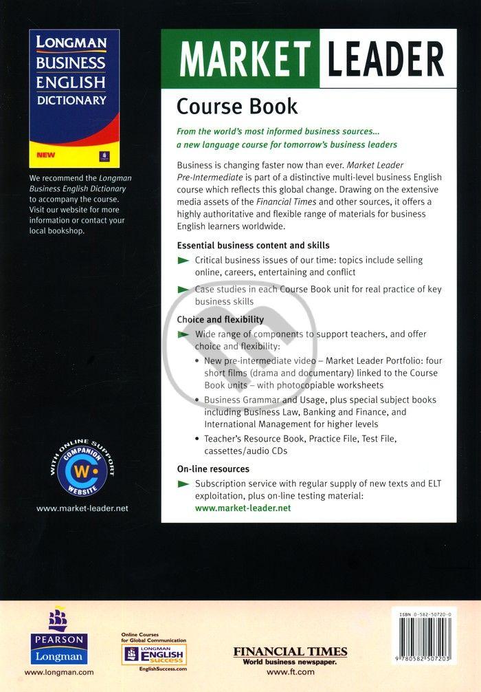Pre-intermediate английскому leader решебник market по